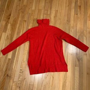 LOFT Red Turtleneck Sweater